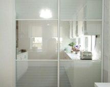 Hệ khung G6 sơn tĩnh điện màu trắng Bề mặt kính dán film