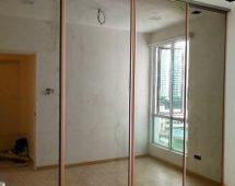 Hệ khung kệ Hệ khung cửa G14 màu hồng ánh vàng Bề mặt kính gương màu trà